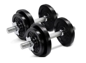 Yes4All Adjustable Dumbbells with Barbell