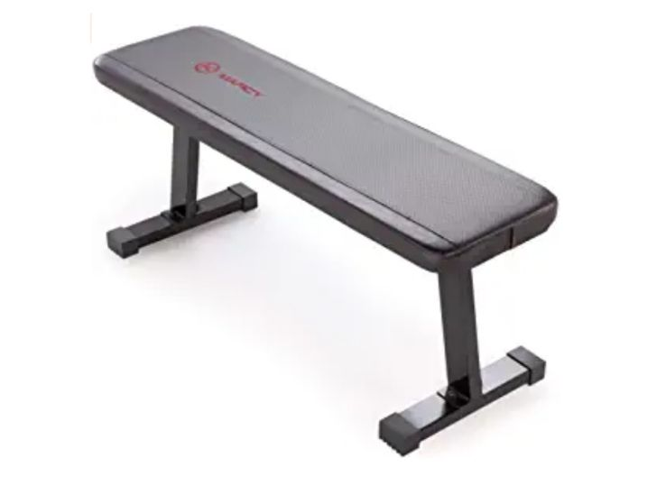 Marcy Flat Utility 600 lbs Capacity Weight Bench for Weight Training and Ab Exercises