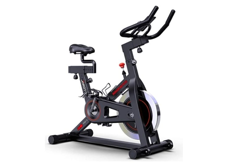 JOROTO Magnetic Exercise Bike Stationary - Belt Drive Indoor Cycling