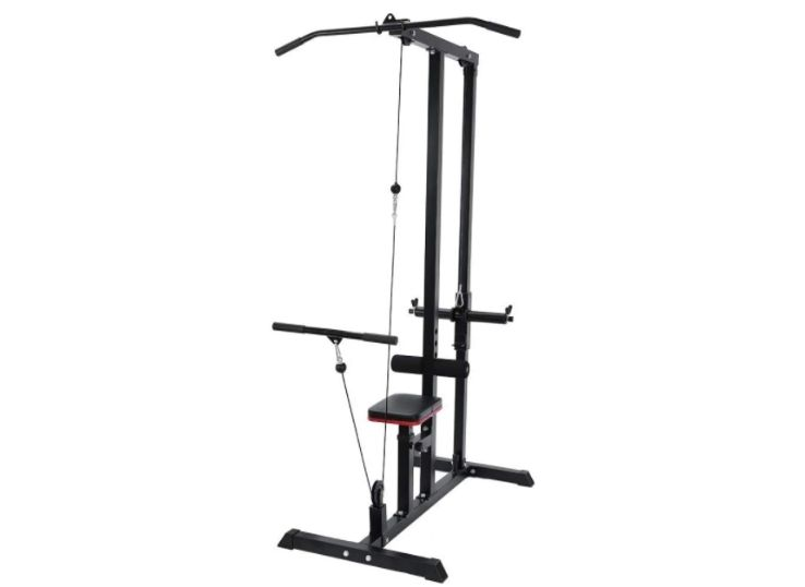 6.KINGC Home Heavy Duty Lat Pulldown and Low Row Cable Machine