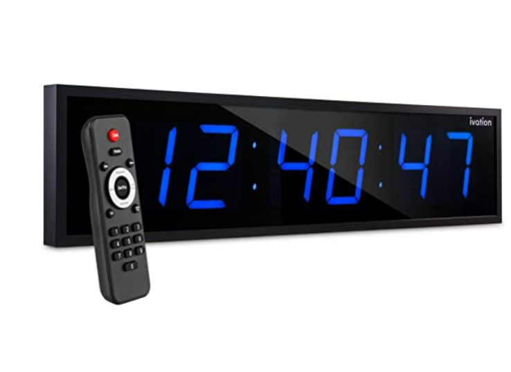 Ivation Oversized Digital LED Clock