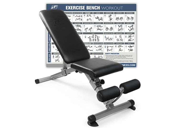 Ritfit Adjustable and Foldable Utility Weight Bench