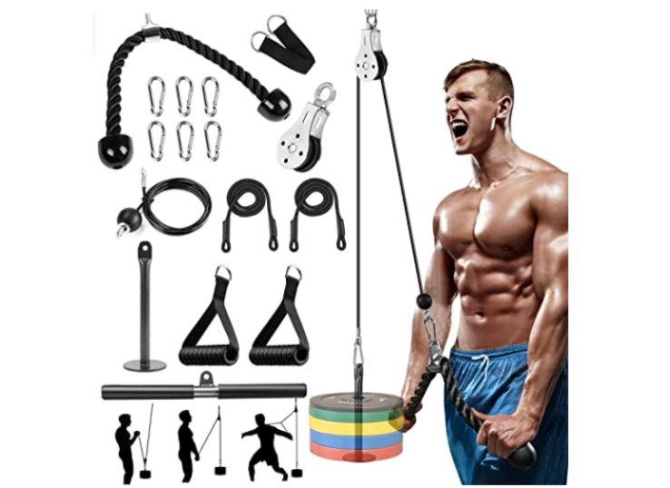 EliklivFitness LAT and Lift Pulley System Gym